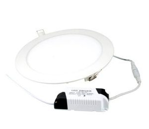18W CIRCULAR LED PANEL 225MM WHITE TRIM - 6000K, SPW18W-60