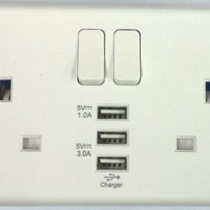 3 USB Socket Deta S1299