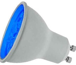 7W LED GU10 Lamp BLUE coloured, Prolite LGU10LEDB
