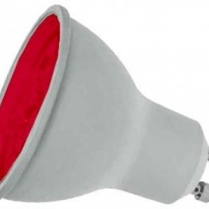 7W LED GU10 Lamp RED coloured, Prolite LGU10LEDR