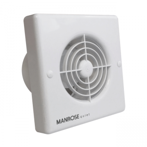 "4""/100mm Quiet Extractor Fan with Timer, Manrose QF100T"