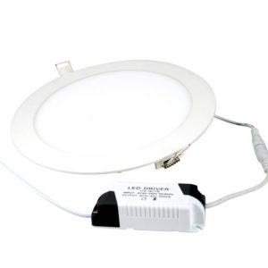 Circular LED Panel 20w 240mm dia White Trim - 6000K, Red Arrow SPW20W-60