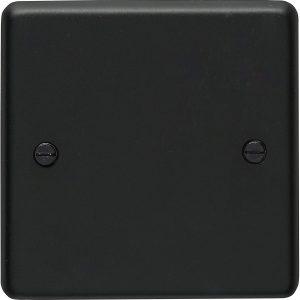 Single Gang Blanking Plate Black Nickel, Eurolite Eurolite BN1200