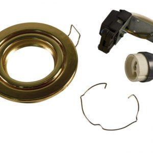 GU10 Downlight Tilt Brass, Red Arrow RGGB