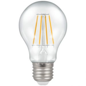 7.5W LED GLS Filament Dimmable Lamp ES (E27) Warm White 2700K Clear, Crompton 4214