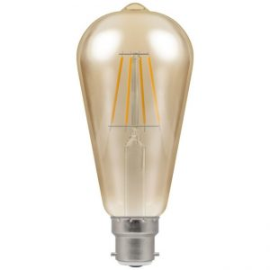 5W LED Antique Filament ST64 Dimmable Lamp BC (B22) 2200K, Crompton 4221