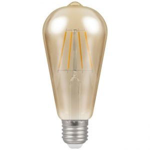5W LED Antique Filament ST64 Dimmable Lamp ES (E27) 2200K, Crompton 4238