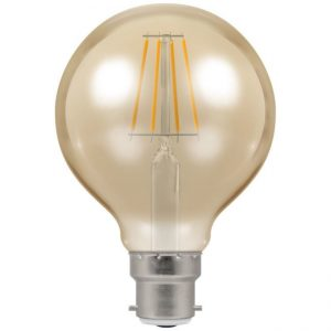 5W LED Globe G80 Antique Filament ST64 Dimmable Lamp BC (B22) Warm 2200K