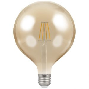 7.5W LED Globe G125 Antique Filament ST64 Dimmable Lamp ES (E27) 2200K, Crompton 4313