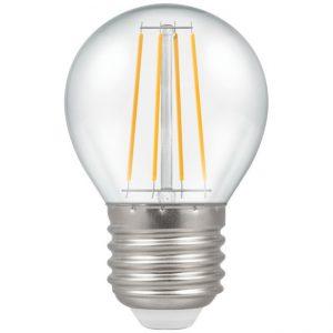 4W LED Round Filament Lamp ES 2700K Warm White, Crompton 4467
