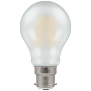 7.5W LED GLS Filament Dimmable Lamp BC (B22) Warm White 2700K Pearl
