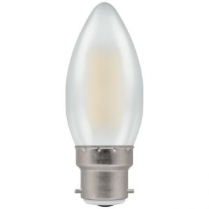 4W LED Candle Filament Lamp 2700K BC (B22) Pearl
