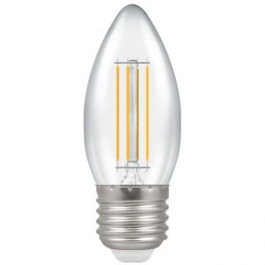 4W LED Candle Filament Lamp 2700K ES (E27) Clear