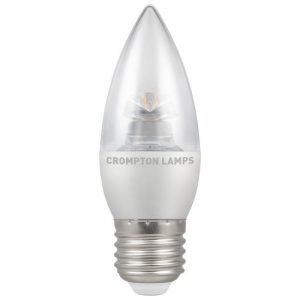 6.5W LED Candle Dimmable ES LAMP 2700K Clear