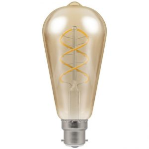 6W Antique Filament Dimmable Vintage Lamp ST64 BC