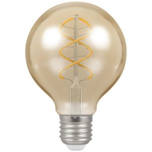 6W LED Antique Filament Dimmable Lamp G80 Spiral ES (E27) 2200K