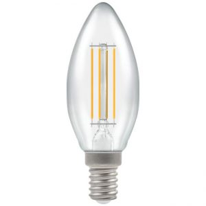 5W LED Candle Filament Dimmable SES Lamp CW Clear