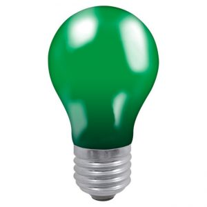 25W GLS GREEN ES LAMP