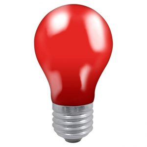 25W GLS ES LAMP RED