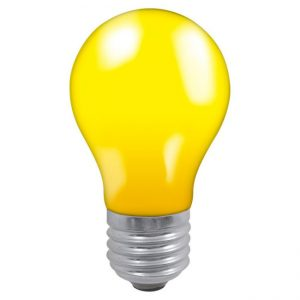 25W GLS ES LAMP YELLOW