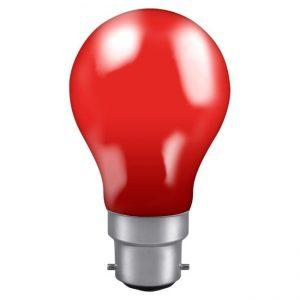 40W GLS BC LAMP RED