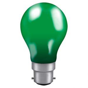 60W GLS BC LAMP GREEN