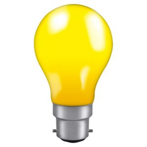 60W GLS LAMP BC YELLOW Coloured Lamp