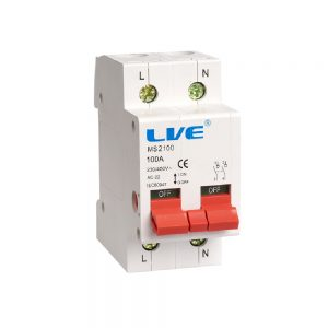 100A DP Main Isolating Switch, LIVE MS2100