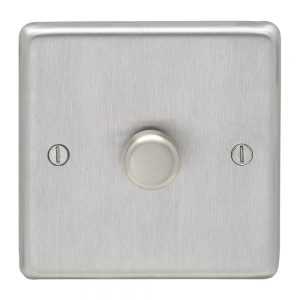1 GANG DIMMER SATIN CHROME UROLITE SSS1D400
