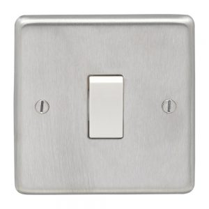 Satin Chrome Switch White Insert, Eurolite SSS1SWW