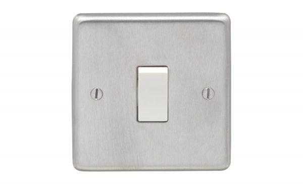 Satin Chrome Switch White Insert, Eurolite SSS1SWW