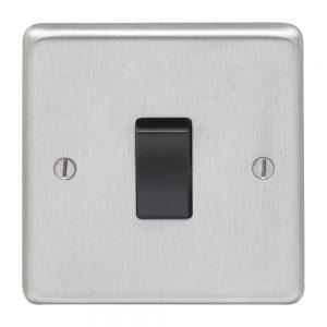 Intermediate Switch Satin Chrome Black, Eurolite SSSINTB