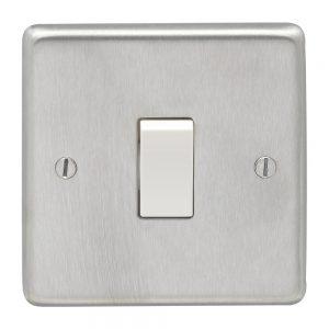 Intermediate Switch Satin Chrome White, Eurolite SSSINTW