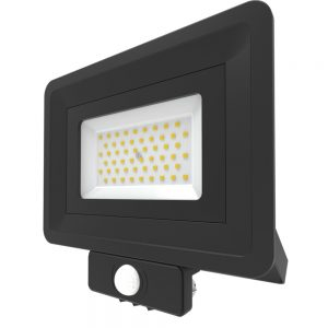 50W LED Security Floodlight With PIR Sensor Cool White