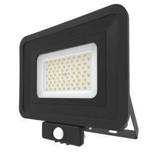 70W LED Floodlight PIR Sensor Cool White 401337-BL