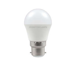 5.5W LED Round Golf Dimmable Lamp BC Warm White, Crompton 11595