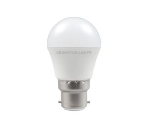 5.5W LED Round Golf Lamp BC Warm White, Crompton 11496
