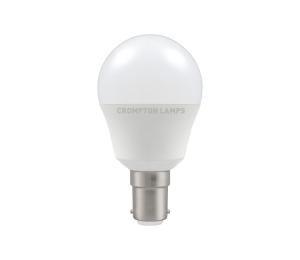 5.5W LED Round Golf Lamp SBC Warm White, Crompton 11502