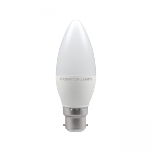 5.5W LED Candle Dimmable Lamp BC Daylight 6500K, Crompton 11465 (9271)