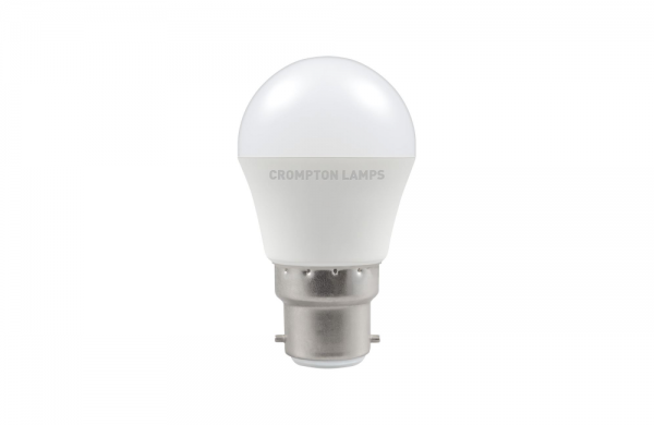 5.5W LED Round Golf Dimmable Lamp BC Daylight 6000k, Crompton 11663 (9370)