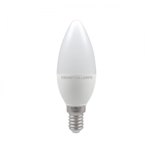 5.5W LED Candle Dimmable Lamp SES Daylight 6500K, Crompton 11489
