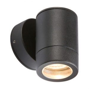 Wall Light Fixed GU10 Fitting IP65 Black WALL1LBK