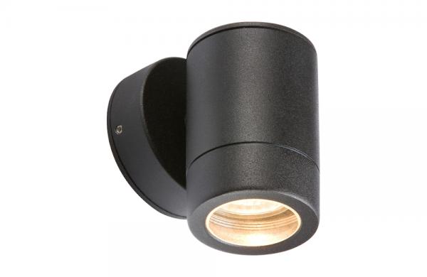 Wall Light Fixed GU10 Fitting IP65 Black WALL1LBK