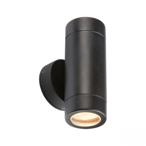 Double Side Up Down Wall Light GU10 Black WALL2LBK