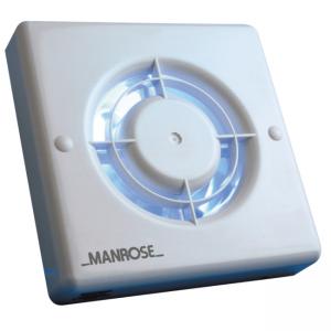 "4"" Humidity Pullcord Fan Manrose XF100HP"