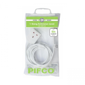 1 GANG 10M EXTENSION LEAD, PIFCO