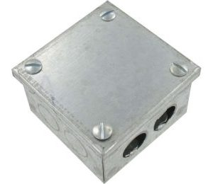Adaptable Galvanised Box 6X6X2 With Knock Outs