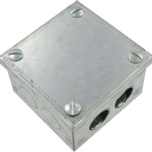 GALVANISED KNOCK OUT BOX 2x2x2