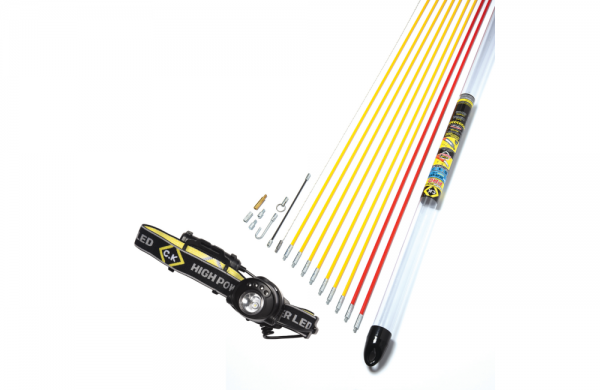 Cable Rod Standard Set 10m, with Free Head Torch