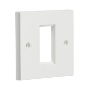 1G Modular Faceplate White, Knightsbridge NET1GWH